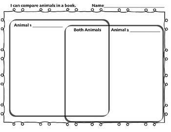 Animal Attribute Comparison Chart/Graphic Organizer