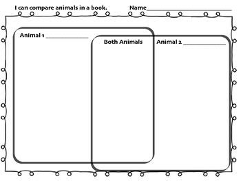 Animal Attribute Comparison Chart/Graphic Organizer