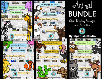 Animal BUNDLE (Spanish) Close Reading
