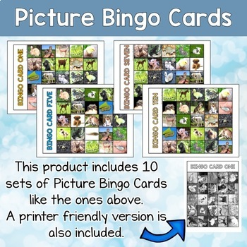 ESL games - Baby animals bingo