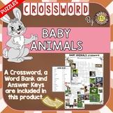 Baby Animals ESL/ELL Activity Crossword Puzzle