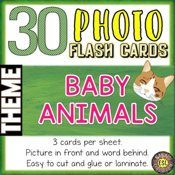 Baby Animals Photo Flash Cards