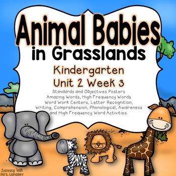 Animal Babies in Grasslands Kindergarten Unit 2 Week 3
