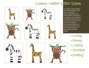 Animal Babies in Grasslands Teacher's Resource/Hand out/Activity Kit