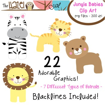 Animal Baby Set: Clip Art Graphics for Teachers {Jungle Theme}