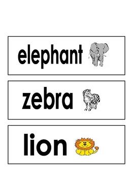 Animal Baby Vocabulary Cards