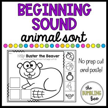Animal Beginning Sound Sort (NO PREP!!!)