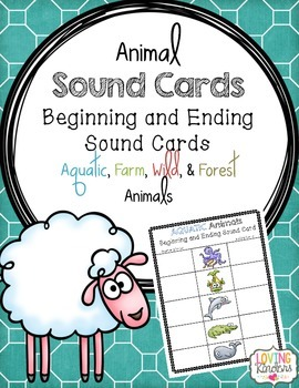 Beginning and Ending Sound Cards~ Animals