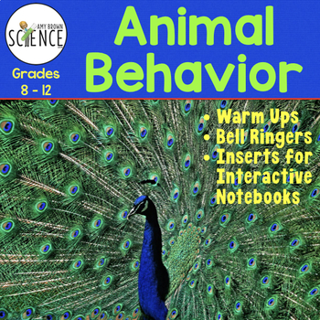 Animal Behavior Warm Ups Interactive Notebook Pages Bell Ringers