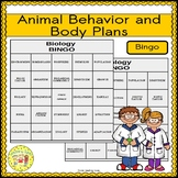 Animal Behavior and Body Plans BINGO