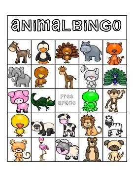 Animal Bingo (25 cards)