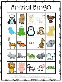 Animal Bingo - ESL Games