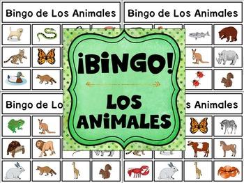 Bilingual Category Bingo: Animal Flashcards & Games (English & Spanish) {BUNDLE}