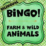 Bilingual Category Bingo: Animal Flashcards & Games (English & Spanish)