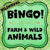 Bilingual Category Bingo: Animal Flashcards & Games (Engli