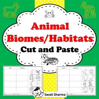Animal Biomes Habitats Cut and Paste