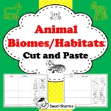 Animal Biomes Habitats Cut and Paste Worksheets