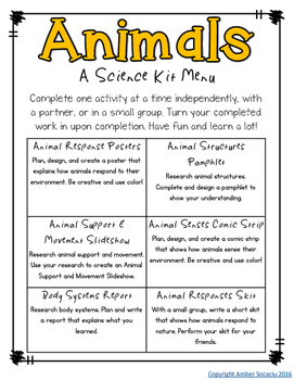 Fourth Grade NGSS - Animal Bodies Activities