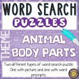 Animal Body Parts ESL Activities Word Search Puzzles
