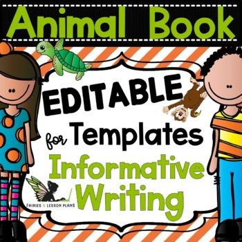 Animal Book - Informative Writing Templates