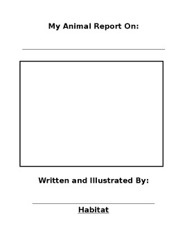 Animal Book Report