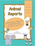 Animal Book Reports for Kindergarten and First Grade