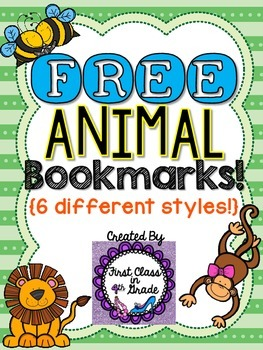 Animal Bookmarks (Free)