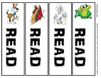 Animal Bookmarks:  READ