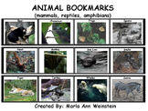 Animal Bookmarks (mammals, reptiles, amphibians)