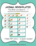 Animal Bookplates Fillable PDF - This Book was Given to