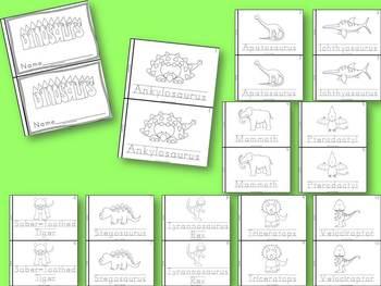Animal Books Bundle for Kindergarten and 1st Grade Block Print Style