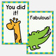 Encouragement Brag Tags - 30 Animal Themed Designs - Classroom Management