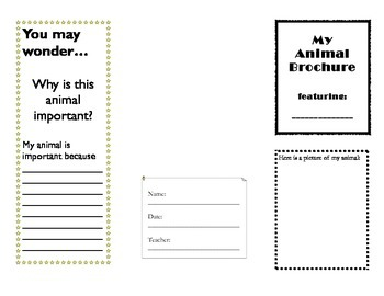 animal brochure template for expository text animal brochure template for expository text