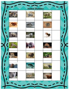 Animal Buddies - An Engaging Alternative To Clock Buddies for Making Groups
