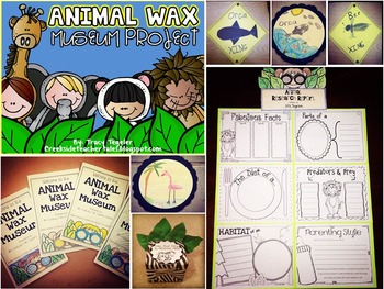 Animal Bundle (Animal Wax Museum, Awesome Animal Articles, & Main Idea Pack)