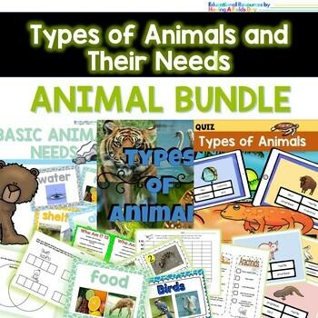 Animal Bundle- Basic Animal Needs and Types of Animals