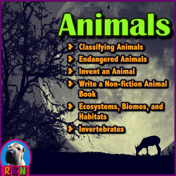 Animal Bundle (Classifying, Endangered, Nonfiction book, Invent Animal, Habitat)