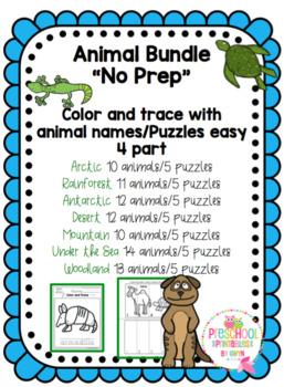 "Animal Bundle ""No Prep"""