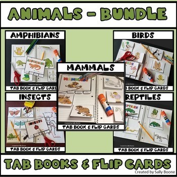 Animal Bundle - Tab Books and Flip Cards
