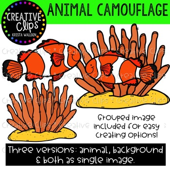 Animal Camouflage Clipart {Creative Clips Clipart}