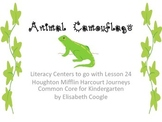 Animal Camouflage Kindergarten Literacy Centers for Harcourt Journey Week 24