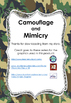 Animal Camouflage and Mimicry Worksheet