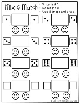 Animal Categories Dice Game with Carrier Phrases