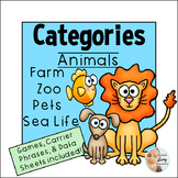 Categories for Speech Therapy:  Farm and Zoo Animals, Pets