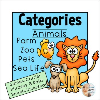 Categories for Speech Therapy:  Farm and Zoo Animals, Pets, and Sea Life