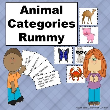Animal Categories Rummy