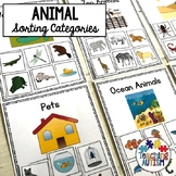 Animal Category Sorting Cards