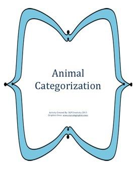 Animal Category Sorting Game