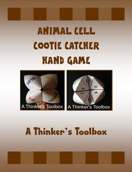 Animal Cell Cootie Catcher Hand Game