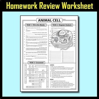 Animal Cell Lesson Bundle {Editable and Options for Differentiation}